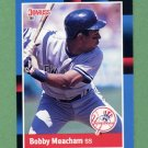 1988 Donruss Baseball #616 Bobby Meacham - New York Yankees