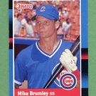 1988 Donruss Baseball #609 Mike Brumley - Chicago Cubs