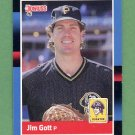 1988 Donruss Baseball #606 Jim Gott - Pittsburgh Pirates