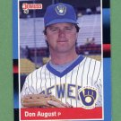 1988 Donruss Baseball #602 Don August - Milwaukee Brewers