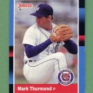 1988 Donruss Baseball #599 Mark Thurmond - Detroit Tigers