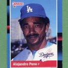 1988 Donruss Baseball #598 Alejandro Pena - Los Angeles Dodgers