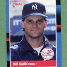 1988 Donruss Baseball #586 Bill Gullickson - New York Yankees