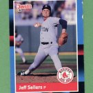1988 Donruss Baseball #585 Jeff Sellers - Boston Red Sox