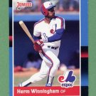 1988 Donruss Baseball #581 Herm Winningham - Montreal Expos