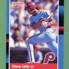 1988 Donruss Baseball #576 Steve Jeltz - Philadelphia Phillies
