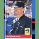 1988 Donruss Baseball #558 Jeff D. Robinson - Pittsburgh Pirates