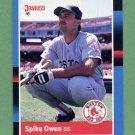 1988 Donruss Baseball #544 Spike Owen - Boston Red Sox