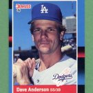 1988 Donruss Baseball #475 Dave Anderson - Los Angeles Dodgers