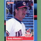 1988 Donruss Baseball #465 Andy Allanson - Cleveland Indians