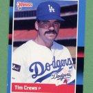 1988 Donruss Baseball #464 Tim Crews RC - Los Angeles Dodgers