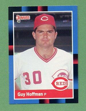 1988 Donruss Baseball #452 Guy Hoffman - Cincinnati Reds