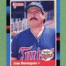 1988 Donruss Baseball #395 Juan Berenguer - Minnesota Twins