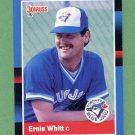 1988 Donruss Baseball #394 Ernie Whitt - Toronto Blue Jays