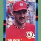 1988 Donruss Baseball #386 Todd Worrell - St. Louis Cardinals