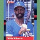 1988 Donruss Baseball #255 Willie Wilson - Kansas City Royals