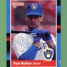 1988 Donruss Baseball #249 Paul Molitor - Milwaukee Brewers