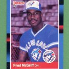 1988 Donruss Baseball #195 Fred McGriff - Toronto Blue Jays ExMt