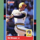 1988 Donruss Baseball #188 Sid Bream - Pittsburgh Pirates
