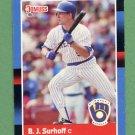 1988 Donruss Baseball #172 B.J. Surhoff - Milwaukee Brewers