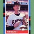 1988 Donruss Baseball #145 Kelly Downs - San Francisco Giants