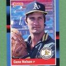 1988 Donruss Baseball #133 Gene Nelson - Oakland A's