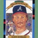 1988 Donruss Baseball #022 Glenn Hubbard DK - Atlanta Braves