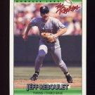 1992 Donruss Rookies Baseball #100 Jeff Reboulet - Minnesota Twins