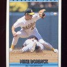 1992 Donruss Baseball #505 Mike Bordick - Oakland A's