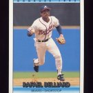 1992 Donruss Baseball #107 Rafael Belliard - Atlanta Braves