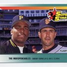 1992 Fleer Baseball #699 Bobby Bonilla and Will Clark
