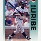 1992 Fleer Baseball #649 Jose Uribe - San Francisco Giants