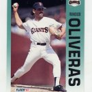 1992 Fleer Baseball #645 Francisco Oliveras - San Francisco Giants