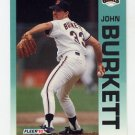 1992 Fleer Baseball #630 John Burkett - San Francisco Giants