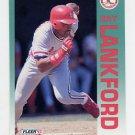1992 Fleer Baseball #583 Ray Lankford - St. Louis Cardinals