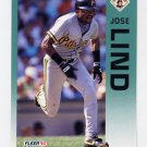 1992 Fleer Baseball #559 Jose Lind - Pittsburgh Pirates