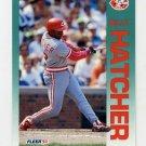 1992 Fleer Baseball #409 Billy Hatcher - Cincinnati Reds