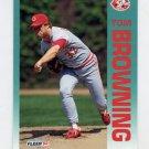 1992 Fleer Baseball #401 Tom Browning - Cincinnati Reds