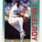 1992 Fleer Baseball #388 Chuck McElroy - Chicago Cubs