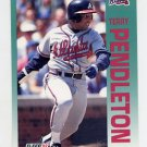 1992 Fleer Baseball #366 Terry Pendleton - Atlanta Braves