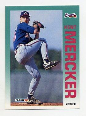 1992 Fleer Baseball #363 Kent Mercker - Atlanta Braves