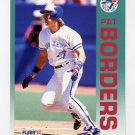 1992 Fleer Baseball #325 Pat Borders - Toronto Blue Jays