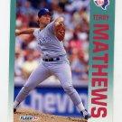 1992 Fleer Baseball #310 Terry Mathews - Texas Rangers
