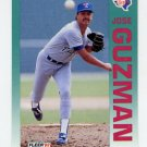1992 Fleer Baseball #306 Jose Guzman - Texas Rangers
