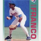 1992 Fleer Baseball #303 Julio Franco - Texas Rangers