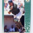 1992 Fleer Baseball #267 Terry Steinbach - Oakland A's