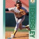 1992 Fleer Baseball #255 Dennis Eckersley - Oakland A's