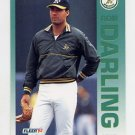 1992 Fleer Baseball #254 Ron Darling - Oakland A's