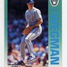 1992 Fleer Baseball #193 Bill Wegman - Milwaukee Brewers