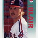 1992 Fleer Baseball #106 Willie Blair - Cleveland Indians